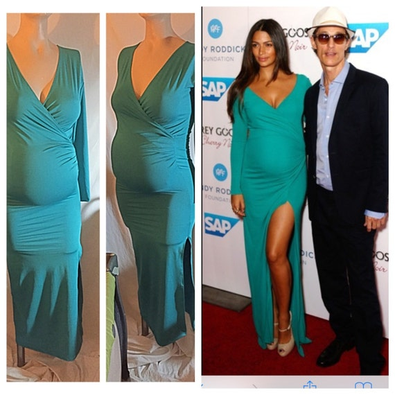 V Neck Maternity Dress