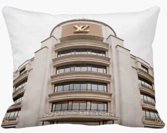 Louis Vuitton Art Pillow Case, Louis Vuitton Pillow, Paris Pillow Case, Louis Vuitton Bedding, Louis Vuitton Photography, Dorm Decor