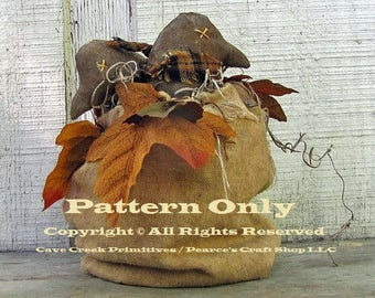 Primitive Bag of Crows Pattern, Crow Patterns, Primitive Animals, Primitive Fall,  Fall Craft Patterns, Primitive Crows, Sewing Patterns,