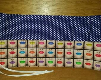 Lips Makeup Brush Holder/Cosmetic Brush Holder/Makeup Brush Organiser/Makeup Brush Roll