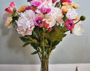 100 % realistic and also the touch, silk flower arrangement,  Home decor flower, flower centerpieces, Silk flower arrangement