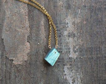 Labradorite Necklace, Raw Crystal Jewelry, Birthday Gifts for Her, Raw Labradorite Jewelry, Raw Gemstone Necklace, Raw Crystal Jewelry, Boho