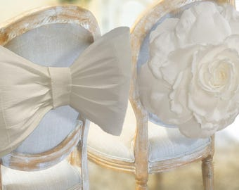 Paper Bow & Paper Flower / Bride Chair / Groom Chair / Baby Nursery Wall Decor / Mr and Mrs Decoration / Party Decorations