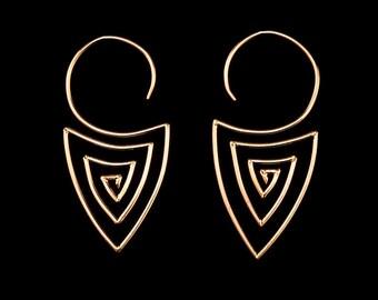 Spiral Ohrringe - Gold Vermeil