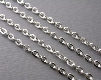 CHAIN-SLVR-3MMx2MM - 10-Foot 3mm x 2mm Silver Plated Chain