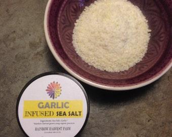 Garlic Infused Sea Salt 2 oz