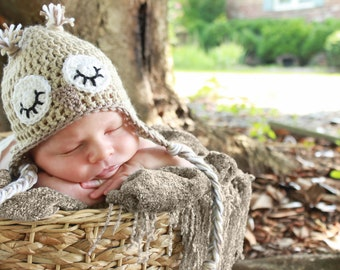Cashmere/Wool Luxury Sleeping Owl Hat