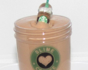 slime cappuccino starbucks coffee frappuccino inspired DAISO slime charm included scented