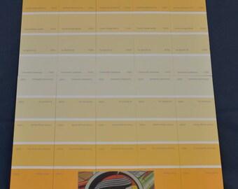 Astronaut on orange stripe background