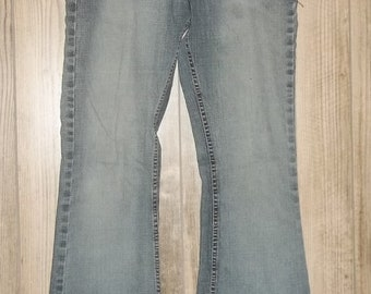 Riders Vintage Flare Jeans 7M Medium Wash Blue Denim Flares 7 90s