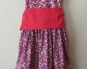 The Tea Party Dress (Floral Pink Purple Red)