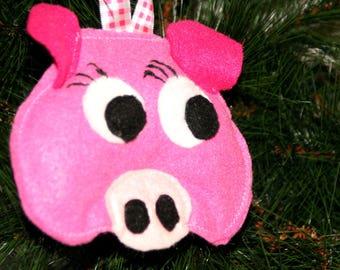Farm Animal Ornament – Pig Ornament – Farm Animal Décor – Christmas Ornament – Farm animal Gift – Pig Christmas Gift – Tree Decoration