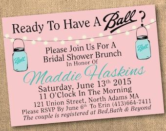 Bridal Shower Invitation { Having A Ball }