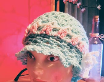 Spring Butterfly cloche hat