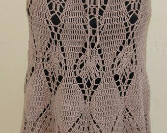 Mid-Length Cotton Crochet Skirt