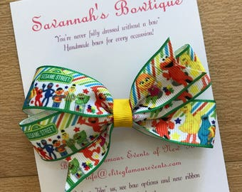 Sesame Street bow, Sesame Street headband, toddler bows, toddler headbands, girls bows