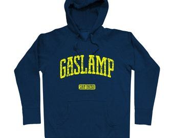 Gaslamp San Diego Hoodie - Men S M L XL 2x 3x - Gift For Men, Gift for Her, Hoody, Sweatshirt, Gaslamp Hoodie, Gaslamp Quarter, SD Hoodie