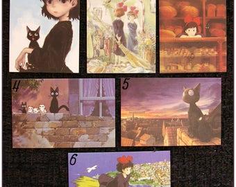"Mini Carte ghibli totoro kiki chihiro arrietty ponyo mononoké asiatique ""modéle 3"" x1"