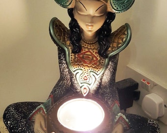 Original Vintage 1950s 1960s Tretchikoff lamp. Thai Lady Exotica . Working. Chalkware. Mid century.