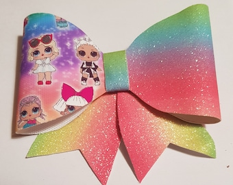 Rainbow lol doll bow