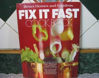 Vintage Better Homes and Gardens Fix Fast Cook Book - Better Homes Gardens - Cookbook - Better Homes Garden - Gift For Her - Gift For Him