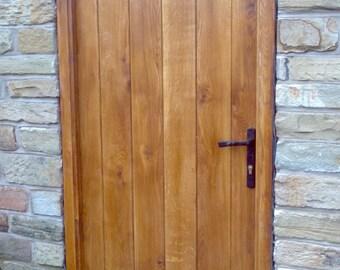 Solid Oak Planked Door