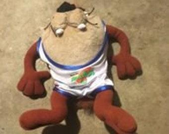 Space Jam Taz Tasmanian Devil Plush Stuffed Animal Mcdonald's 1996