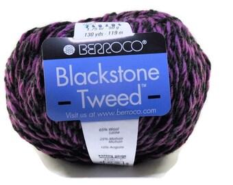 New Berroco Blackstone Tweed Wool Blend Yarn/1 Ball/Concord Grape/ 2684