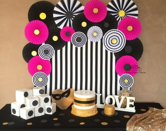 KATE SPADE INSPIRED paper fans backdrop/Wedding backdrop/Bridal shower/Baby shower/Baby girl/Dessert table/1st Birthday/Birthday party/20 pc