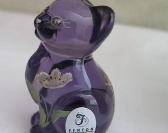 Fenton Purple Kitten