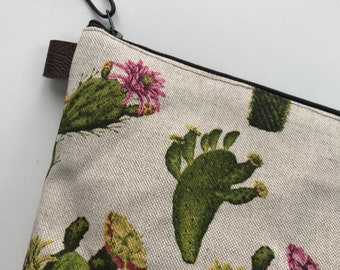 Cactus Toiletry  bag, toiletry bag, travel pouch, wash bag, travel bag, cosmetics bag, makeup bag, waterproof lining, sp