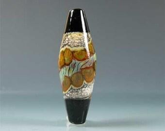 Rattan -- bicone focal, handmade lampwork bead