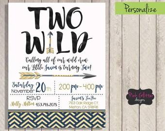Two Wild Invitation, Two Wild Invite, Two Wild Birthday, Two Wild Party, Second Birthday, Wild One Birthday, Wild One Invitation, Wild One