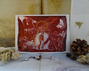 Brighid's Fire Small Art Print