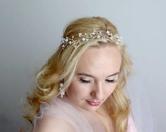 Bridal hair vine, Wedding Hair Vine, Wedding headpiece, Wedding hair accessories, Bridal hair vine, Bridal headband, Wedding headband