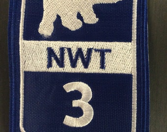 Patch Yellowknife Highway 3 - Great Slave Highway - North West Territories - Canada - Arctic - Polar Bear