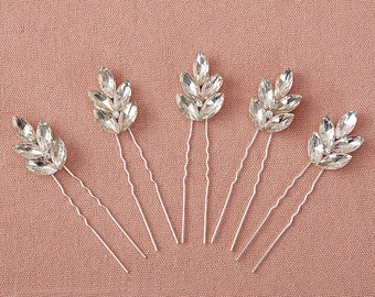 Set of 5 Rhinestone, Crystal Bridal Hair Pins, Bridal Hair Pins,Wedding Hair Pins, Flower Girl Hair Pins Hair Accessories