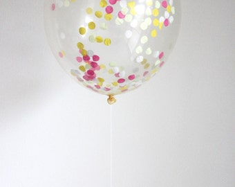 Confetti Filled Balloon- Boardwalk