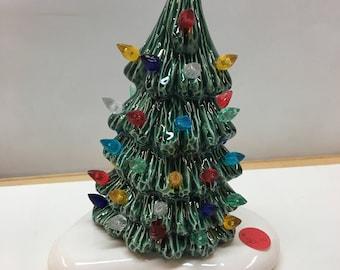 Small handmade ceramic Christmas tree