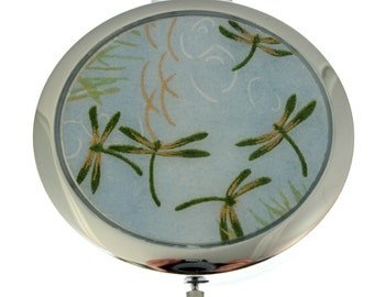 Compact Mirror.  Dragonflies Chiyogami
