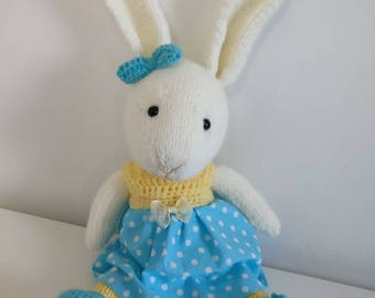 Crocheted and knitted Bunny