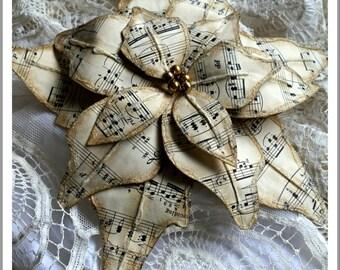 Music Sheet Poinsettia Tutorial