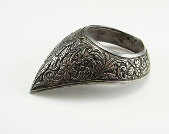 Zihgir BanZhi Archers Ring Archery Rings Thumb Guard Antique Silver Ring Engraved Ottoman Jewelry Ottoman Ring Mughal Ring Mughal Jewelry