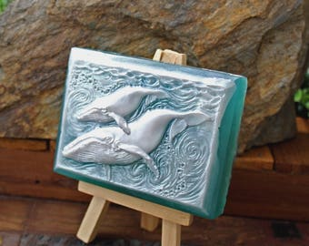 SALE! Humpback Whale soap - shea butter & olive oil soap - mother's day baby shower