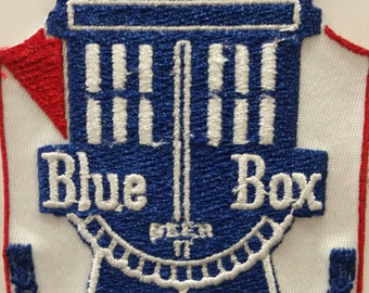 Tardis Beer Parody Patch, Dr. Who Mish Mash Patch, Embroidered Tardis Patch