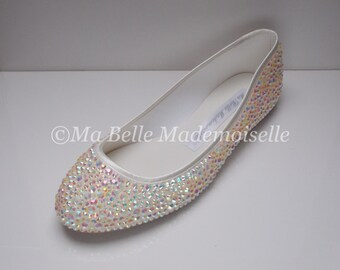 Purple Crystal Ballerina Bridal Shoes Rhinestone Ballerina
