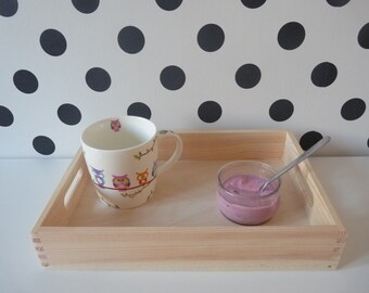 Small wooden tray, unfinished tray, plain tray, serving tray, wooden tray, decoupage decoration, tray for decoupage, unpainted kitchen tray