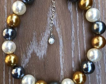 TIMELESS Classic Mix FAUX PEARL Adjustable Choker
