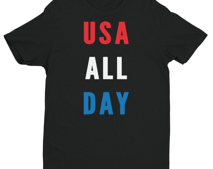 USA All Day Shirt | Patriotic Shirt | Red White and Blue