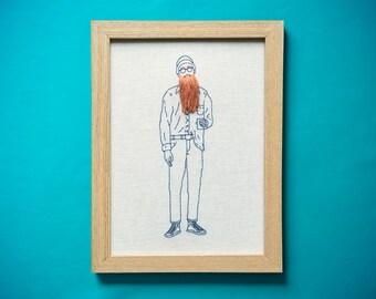Handmade embroidery > Ginger beard